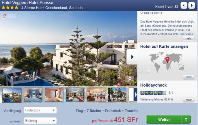 Ferien auf Santorin