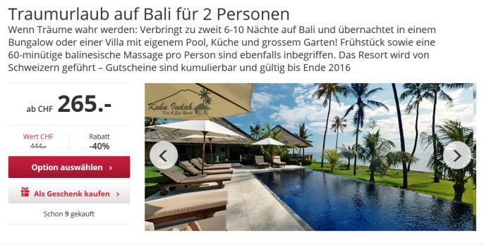 Geniale Ferien auf Bali