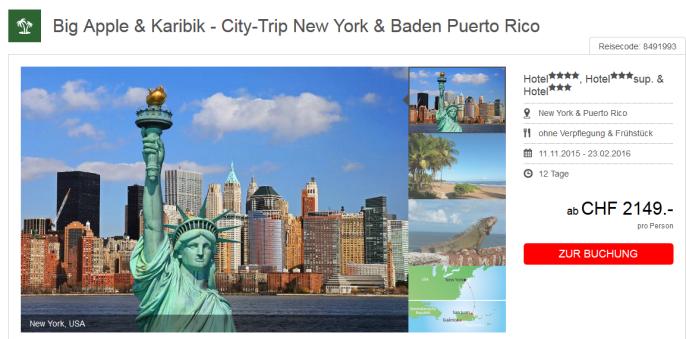 Reise nach New York und in die Karibik