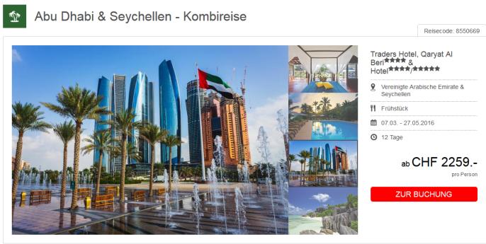 Seychellen und Abu Dhabi