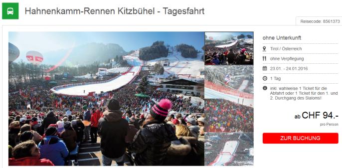 Hahnenkammrennen Kitzbühel Busfahrt