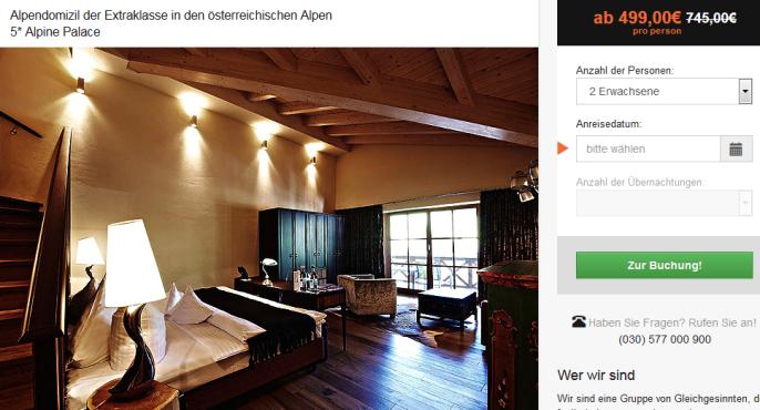 Luxushotel in den Alpen