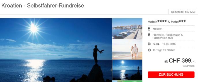 Kroatien Rundreise