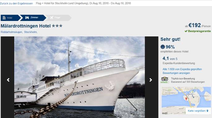 Stockholm Städtereise Screenshot