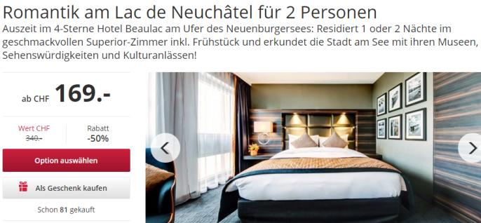 Romantik-Ferien am Neuenburgersee