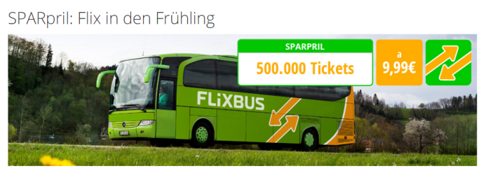 Flixbus Frühlings-Aktion