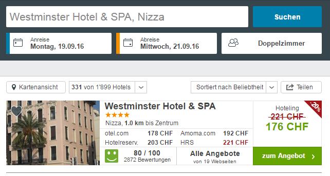 Westminster Hotel Nizza