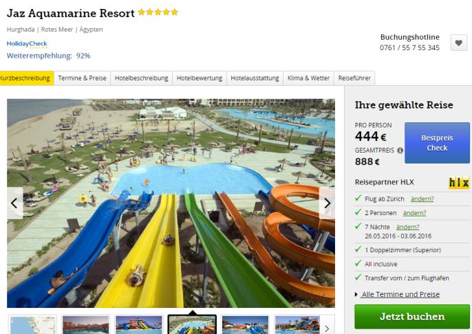 Badeferien in Hurghada Jaz Aquamarine Resort