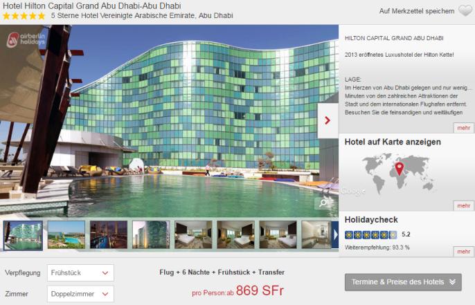 Luxusferien in Abu Dhabi Hilton