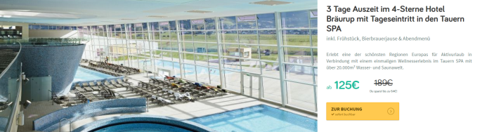 Wellness im Tauern Spa Pool