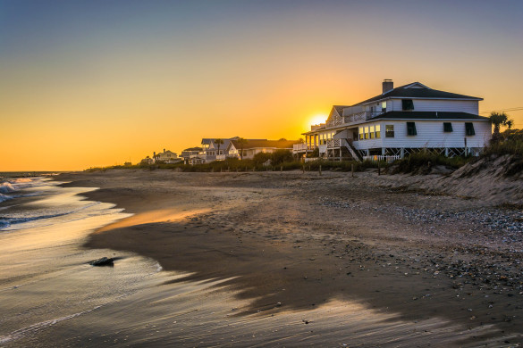 sunset-over-beachfront-homes-at-edisto-beach-south-carolina-shutterstock_230325928-2-585x390