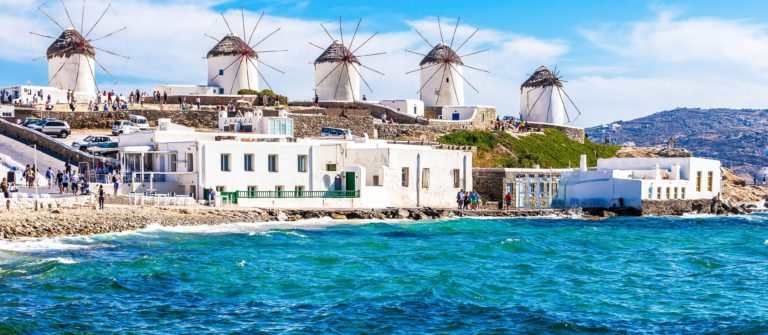 The famous Mykonos windmills